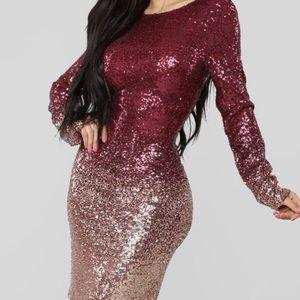 Fashion nova sequin dress in medium! Brand new